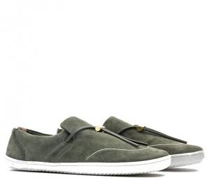 RA SLIP ON L Olive Green Leather