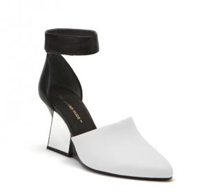 Yoko Ankle Strap White+Black