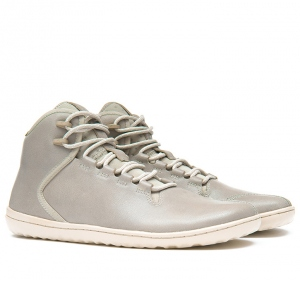 BOROUGH Mens Leather Light Grey