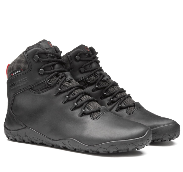 TRACKER FG Mens Leather Black