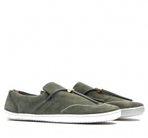 RA SLIP ON L Olive Green Leather