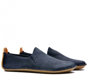 ABABA Ladies Leather Navy